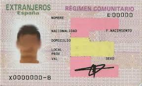 documento tarjeta comunitario en nova extranjería