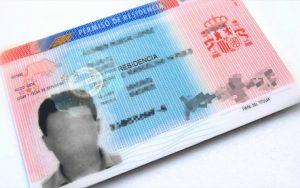 ejemplo tarjeta del permiso de residencia en nova extranjería