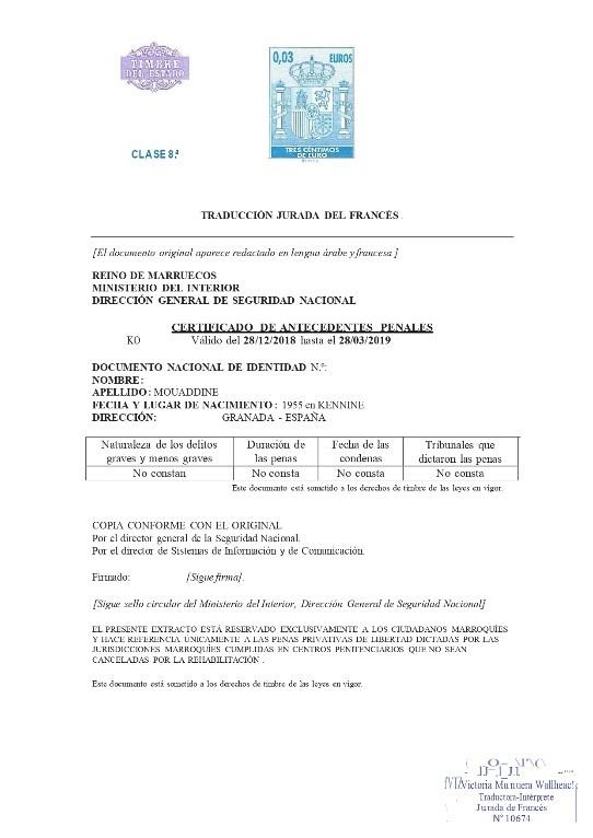 traducción jurada del francés en novaextranjería